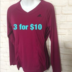 Adidas long sleeve athletic top Large